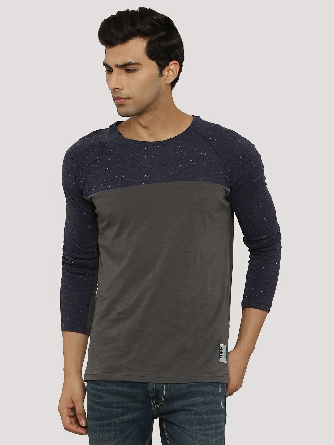 Buy atorse cut sew t shirt with side zip for men men 39 s for Cut shirts for men