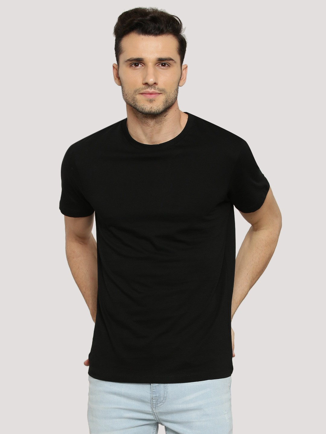 Buy New Look Basic T Shirt For Men Men 39 S Black T Shirts