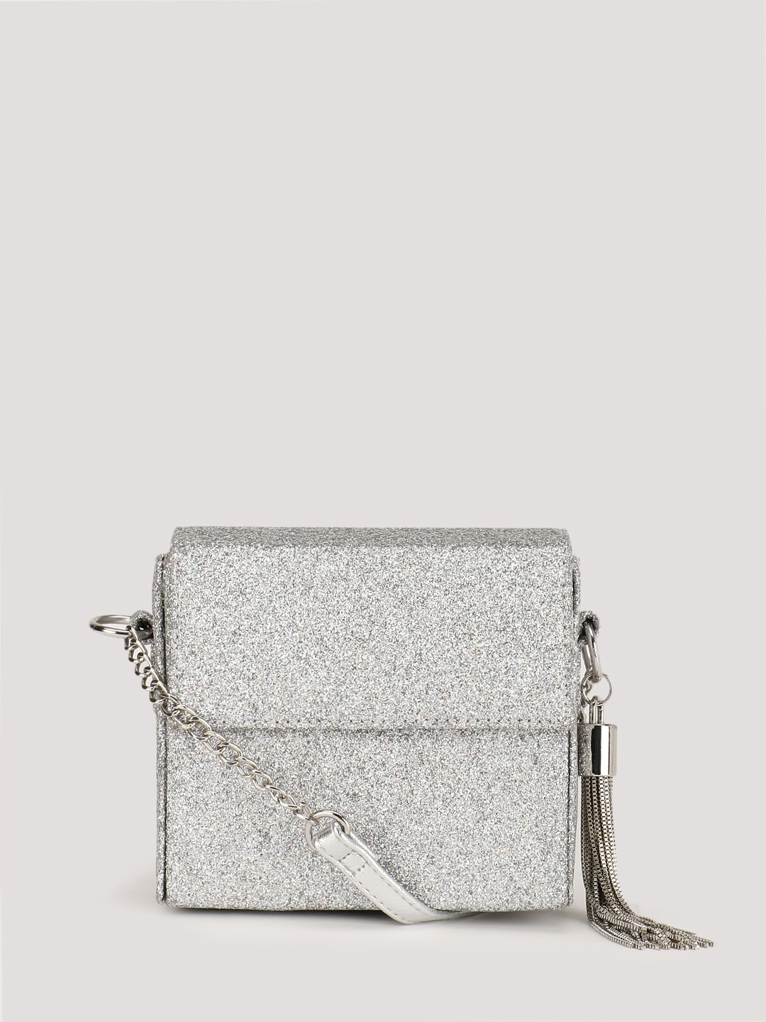 Buy NEW LOOK Glitter Travolta Sling Bag For Women - Women's Silver ...