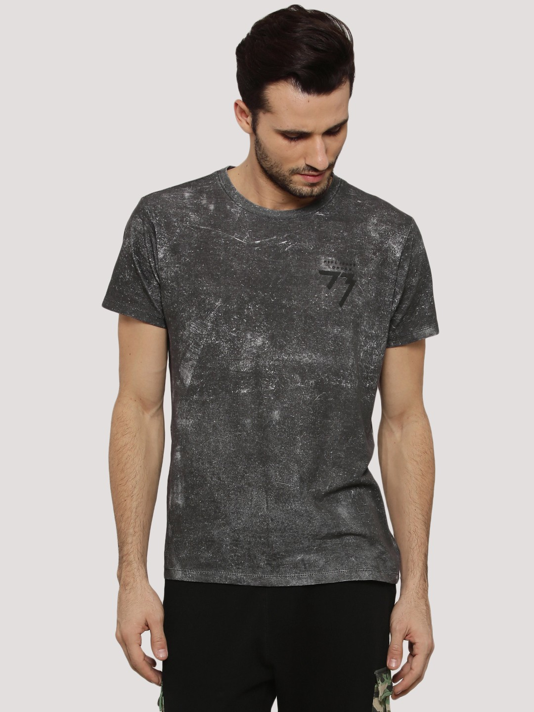 Buy PEPE JEANS Oil Washed T-Shirt For Men - Men's Black T-shirts ...