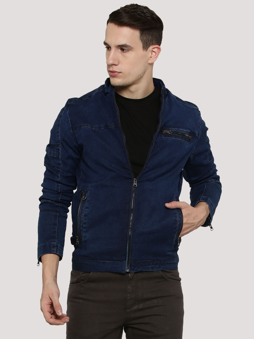 Buy FORT COLLINS Denim Jacket With Back Cut & Sew For Men - Men's ...