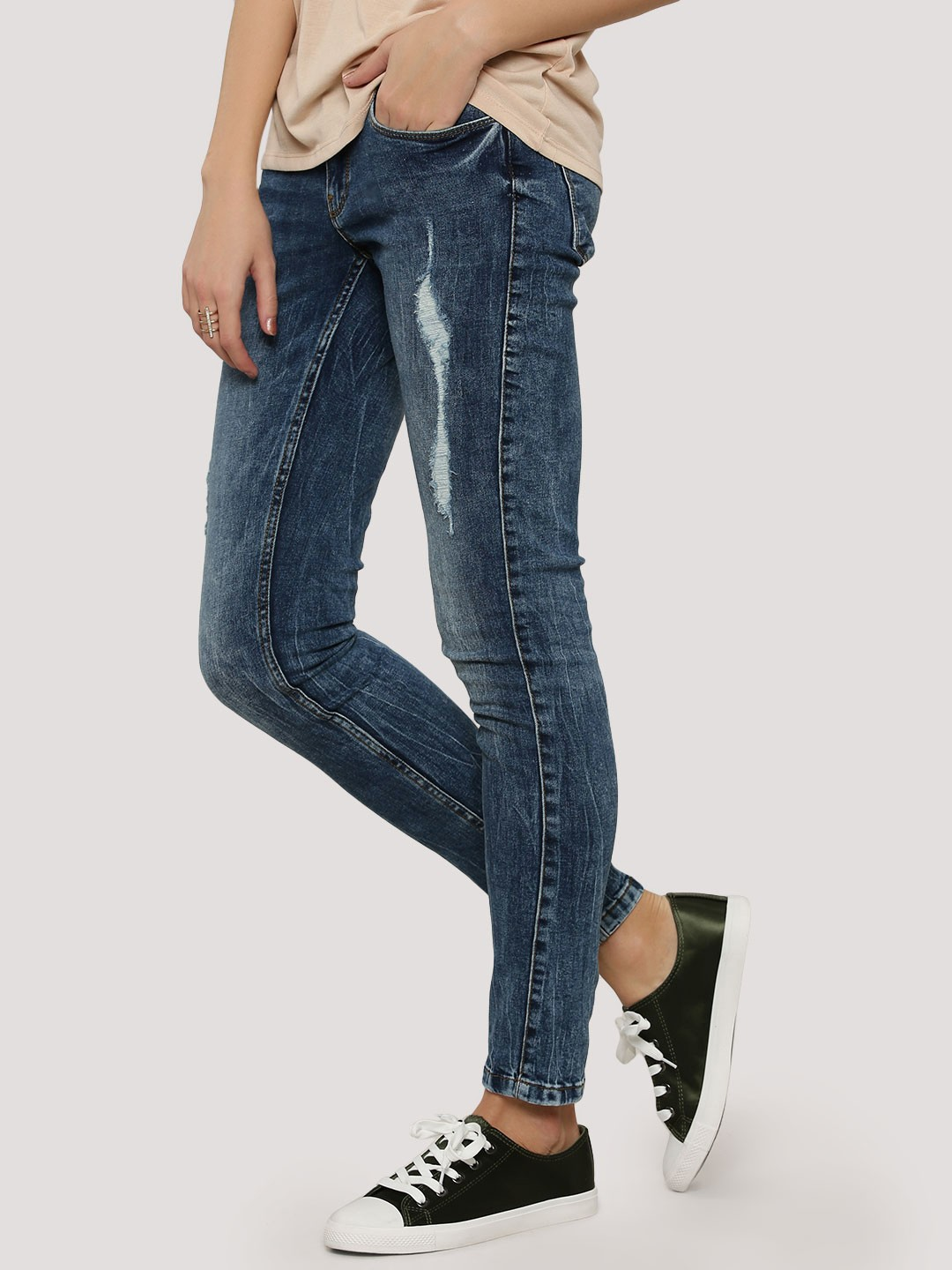 Buy VERO MODA Super Skinny Jeans For Women - Women's Dark Blue ...