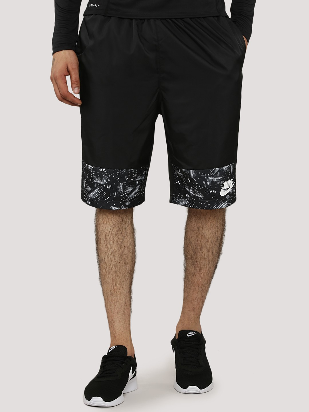 NIKE Printed Panel Woven Shorts With Mesh Lining