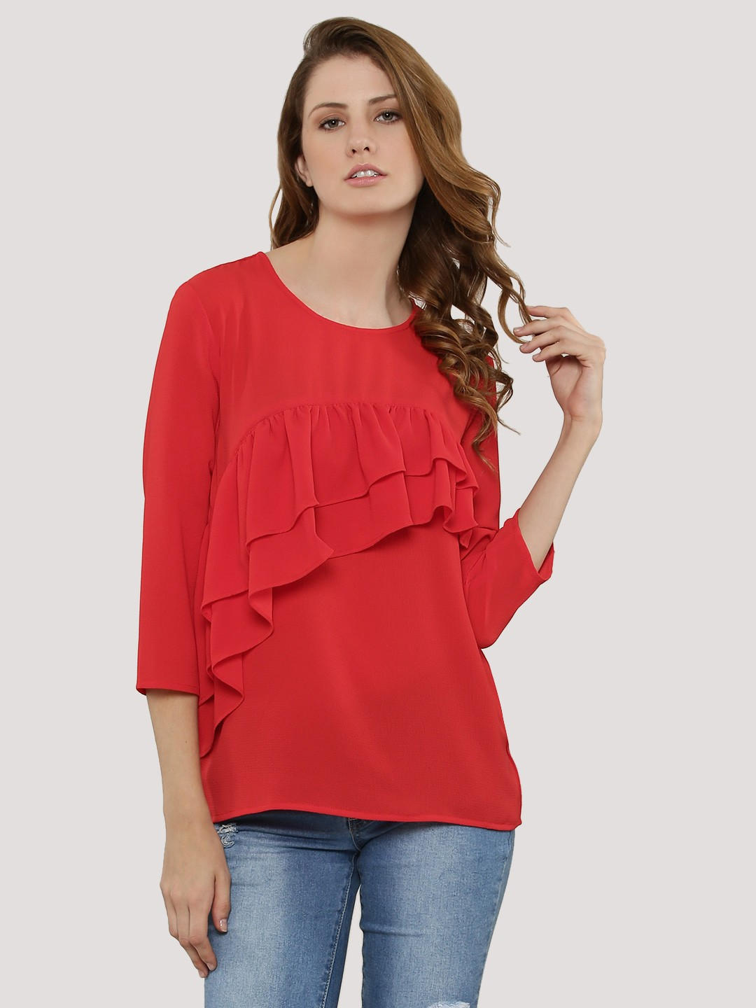 Buy FEMELLA Front Ruffle Top For Women