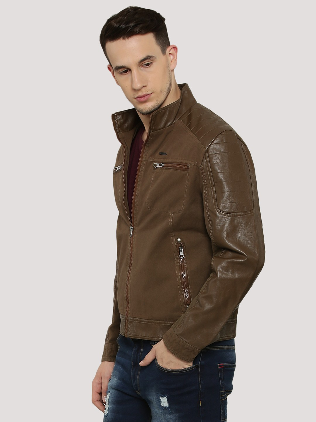 machine leather jacket