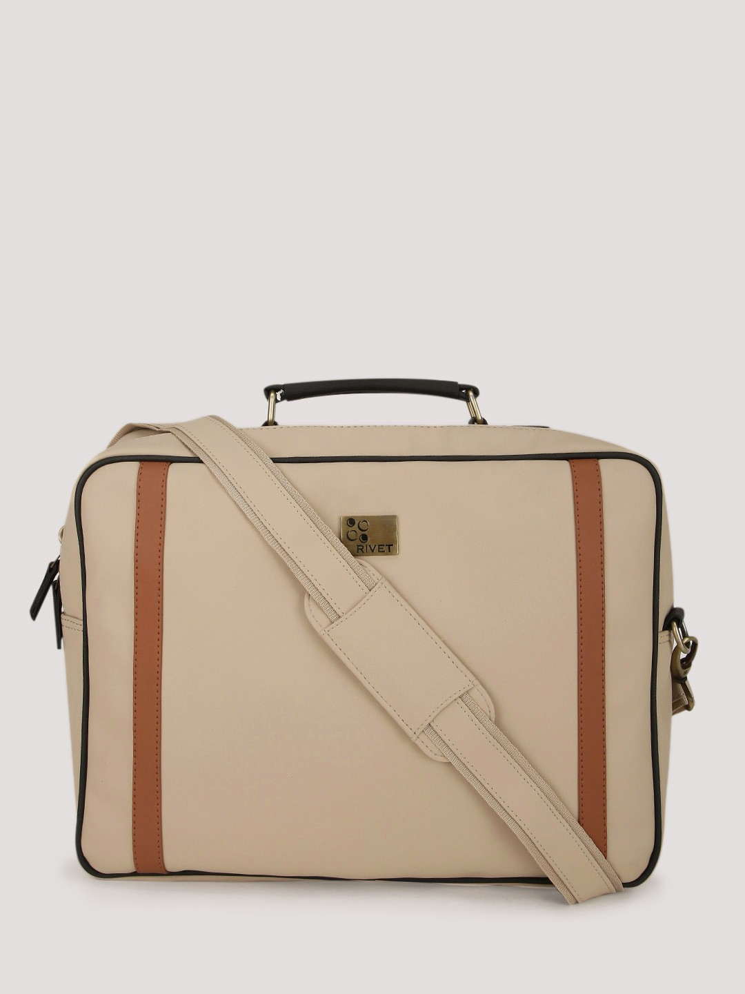 Buy RIVET Canvas Messenger Bag With Laptop Compartment For Men ...