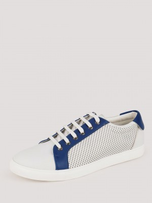 GRIFFIN  Contrast Mesh Panel Lace Up Shoes