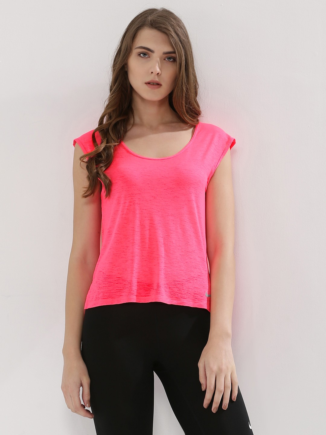 Buy NIKE Breathe T-Shirt For Women - Women's Pink T-shirts Online ...