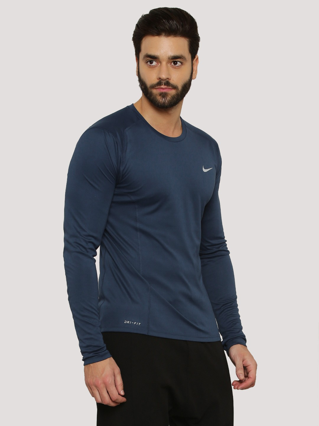 Buy nike dri fit t shirt in long sleeves for men men 39 s for Buy dri fit shirts