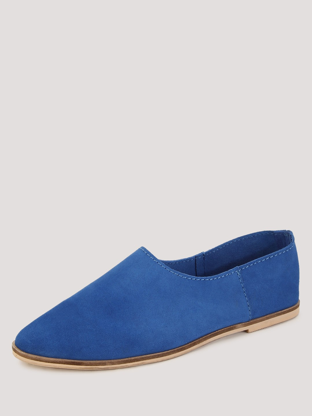 buy koovs suede slip on shoes for s blue