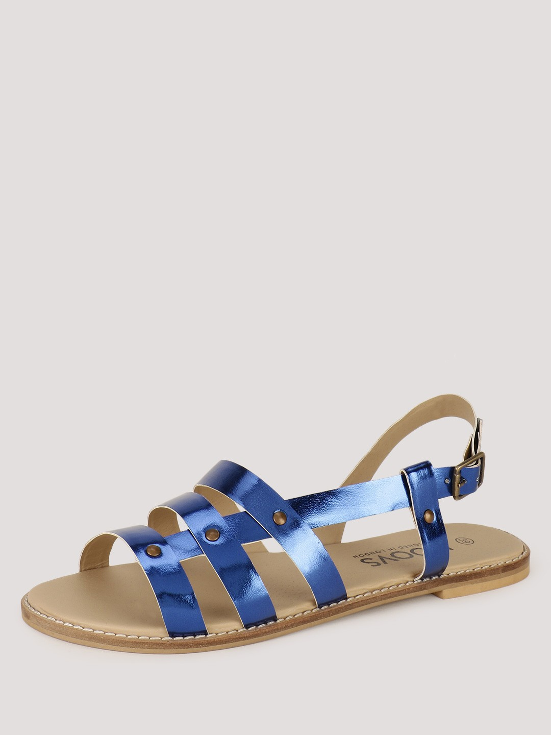 KOOVS Side Riveted Flat Sandals