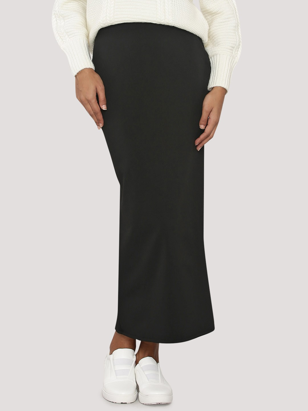 Buy KOOVS Maxi Pencil Skirt For Women - Women's Black Pencil ...
