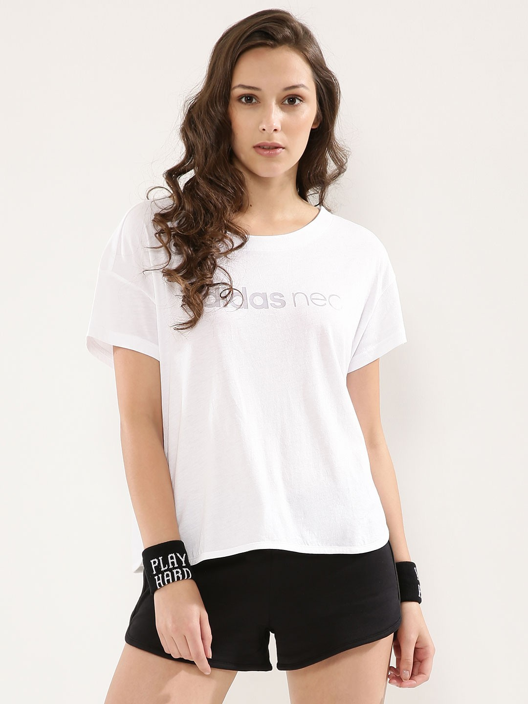 White t shirt for womens - Adidas Neo Sport Style T Shirt