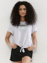 ADIDAS NEO  T-Shirt With Front Tie Detail