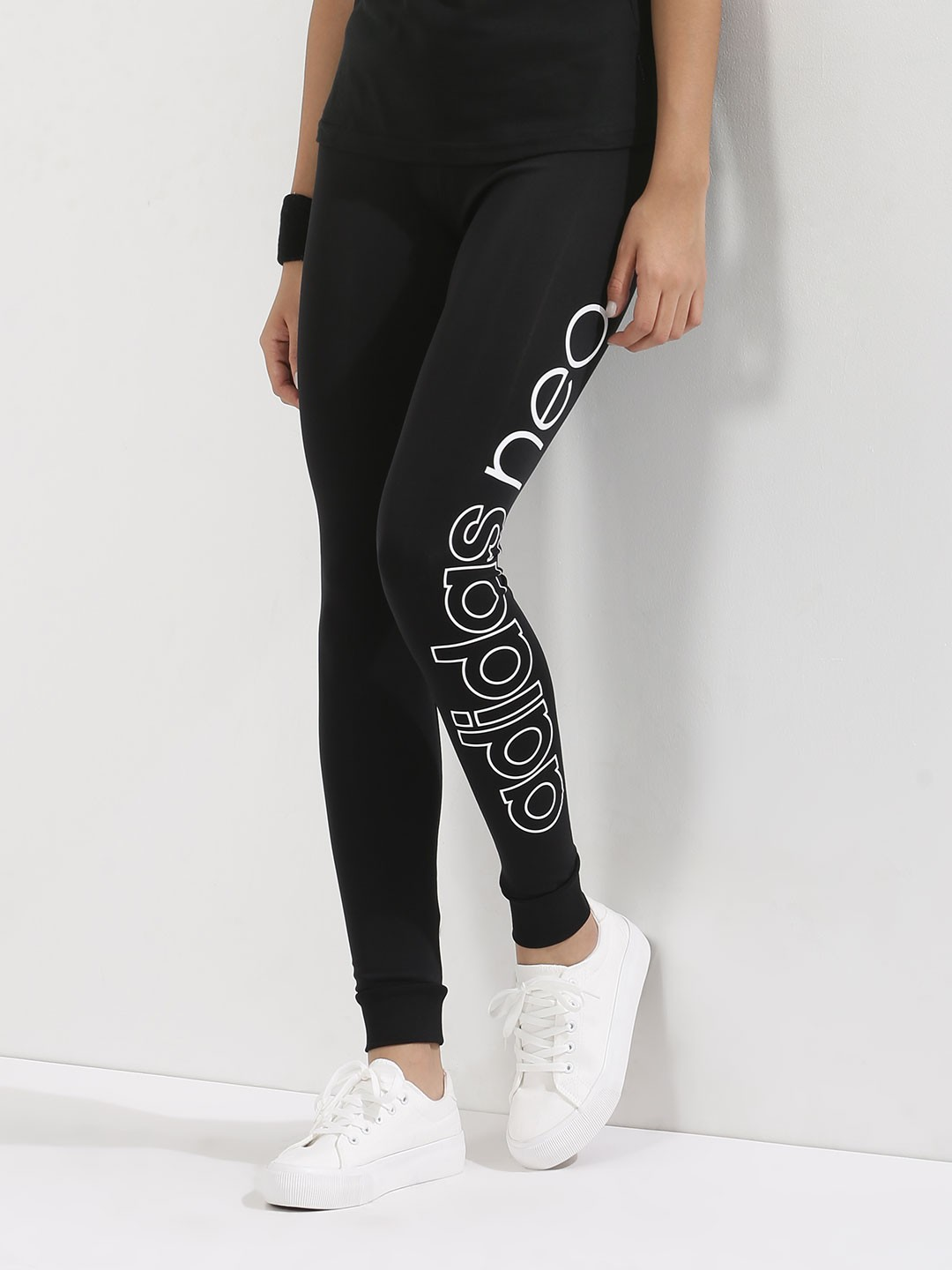 Buy ADIDAS NEO Leggings For Women - Womenu0026#39;s Black/White Leggings Online in India
