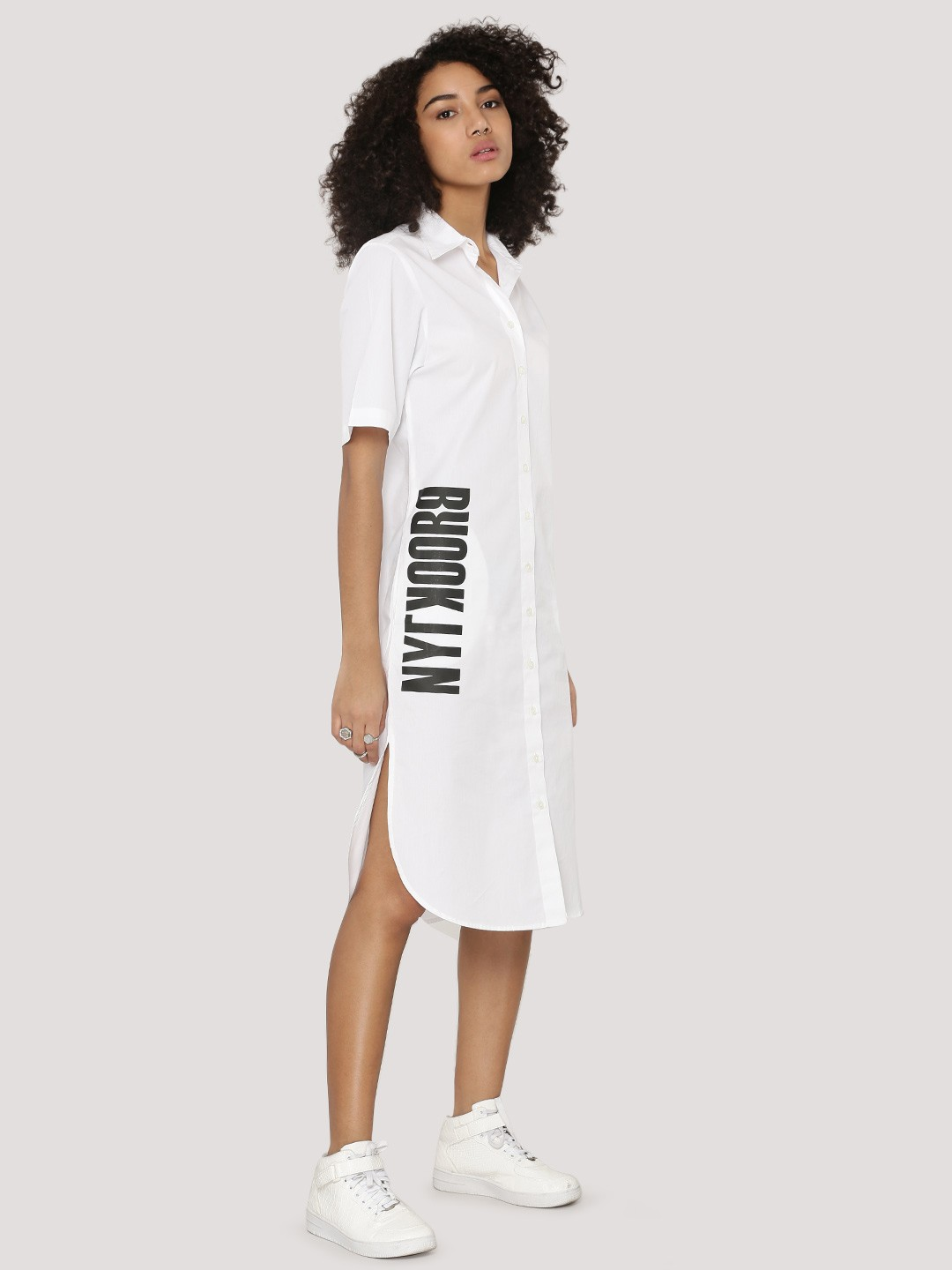 Buy spring break slogan print shirt dress for women for Buy white dress shirt