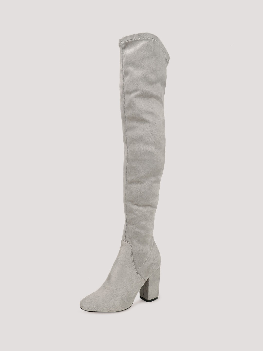 Buy VELVET ARMY Block Heeled Over The Knee Boots For Women ...