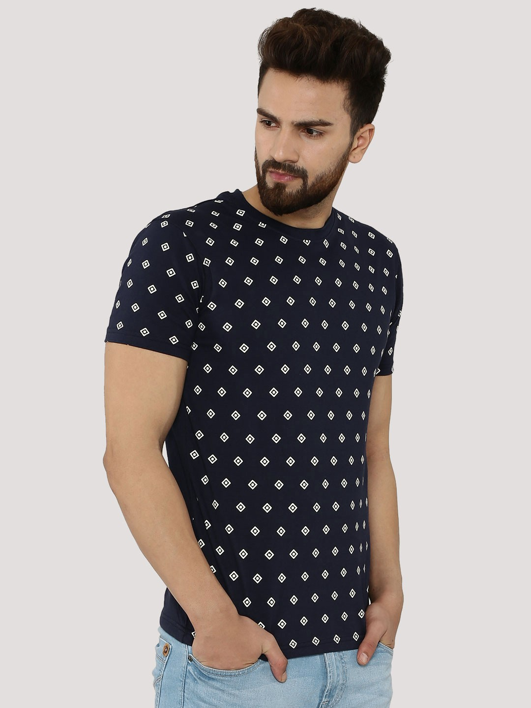 Buy Blotch Printed T Shirt For Men Men 39 S Blue Multi