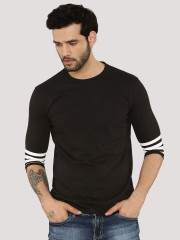 BLOTCH  T-Shirt With Striped Sleeve