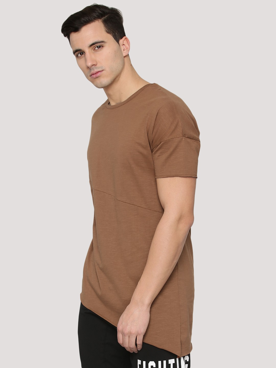 Buy adamo london asymmetrical t shirt with cut sew for for Mens t shirt online