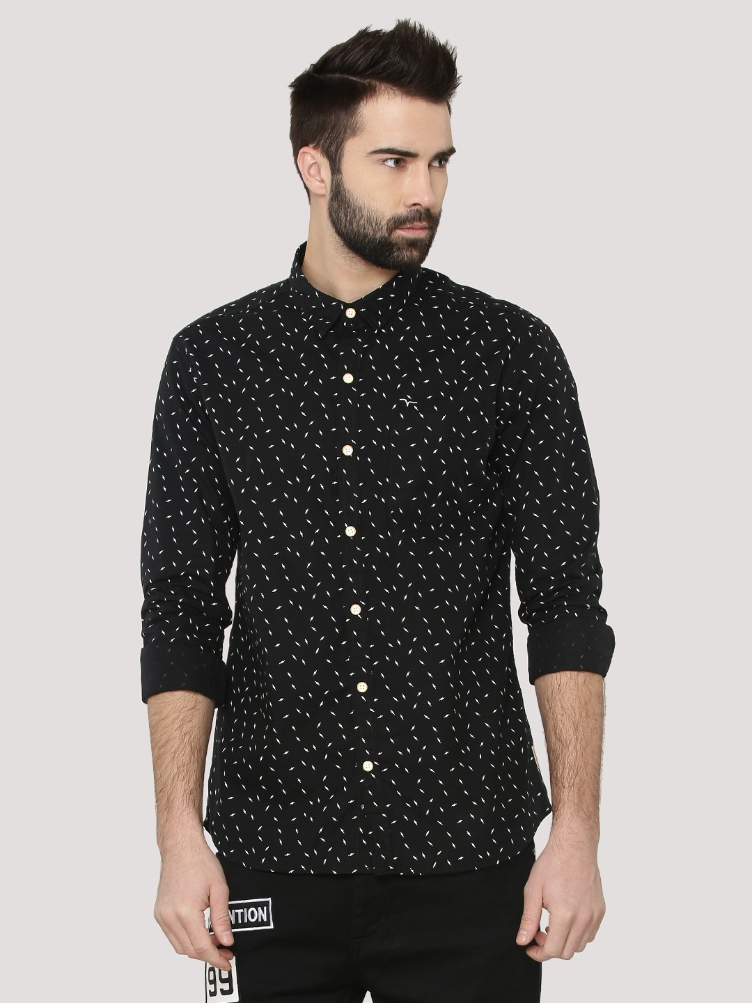 Buy Flying Machine Lightning Print Shirt For Men Men 39 S