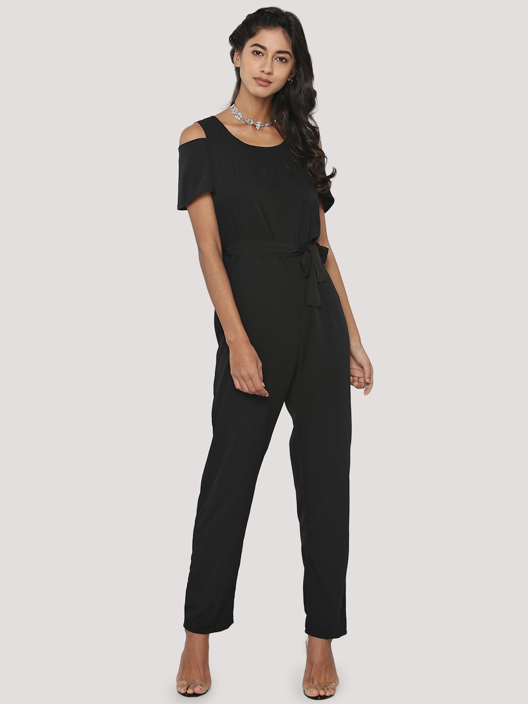 20 off on daisy street georgette jumpsuit with cold. Black Bedroom Furniture Sets. Home Design Ideas