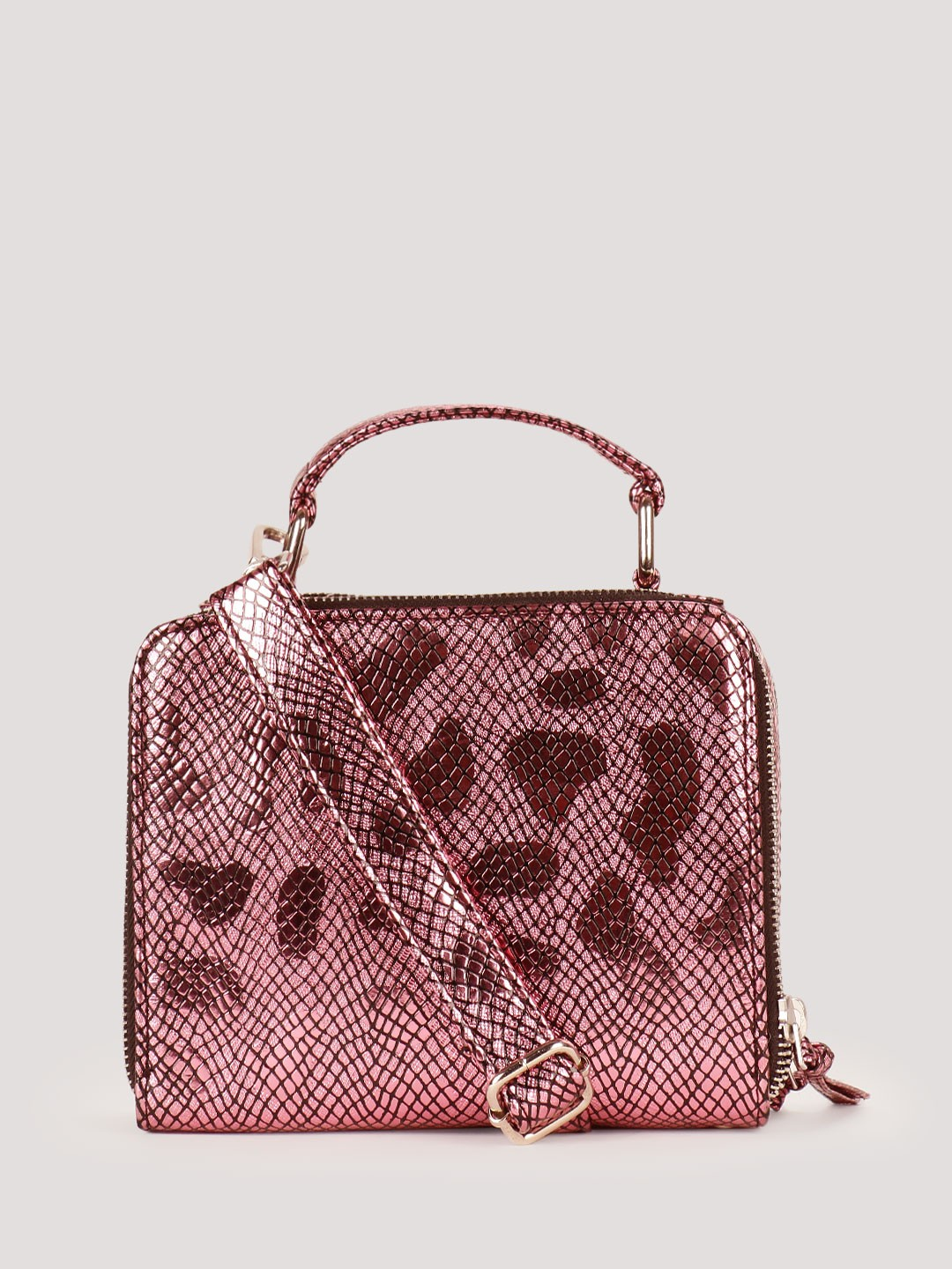 Buy KOOVS Mini Box Sling Bag For Women - Women's Pink Sling Bags ...