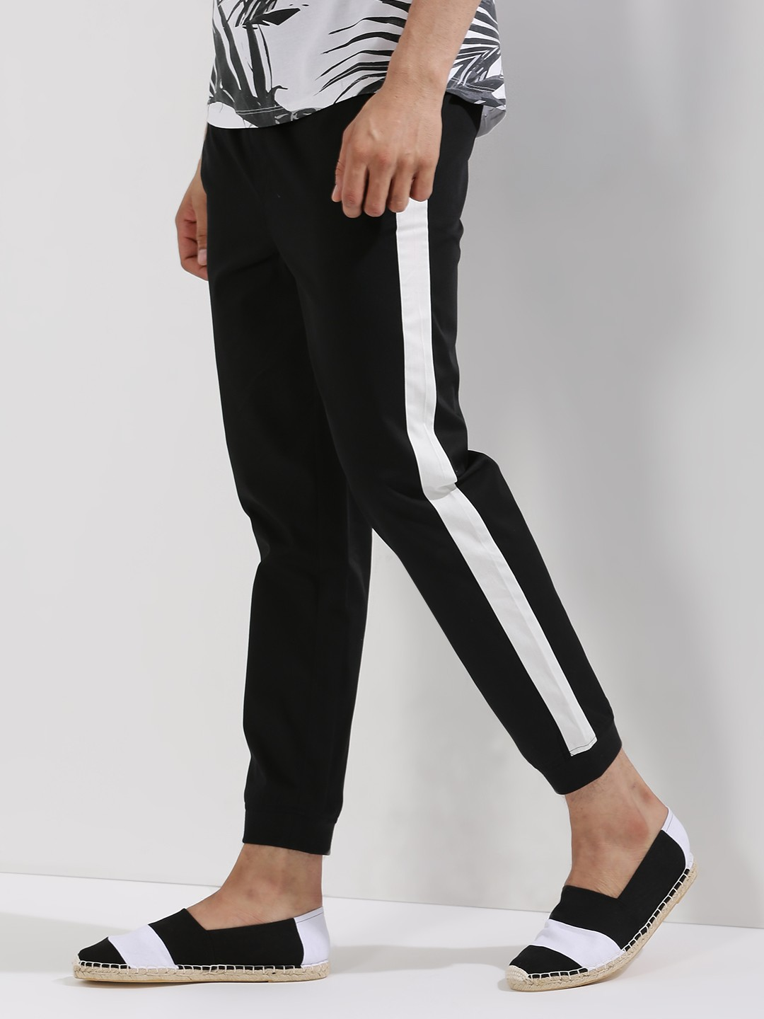 Buy KOOVS Side Stripe Joggers For Men