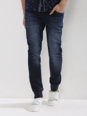 F2000 BY FLYING MACHINE  Blue Label Jogger Jeans With Cuffs