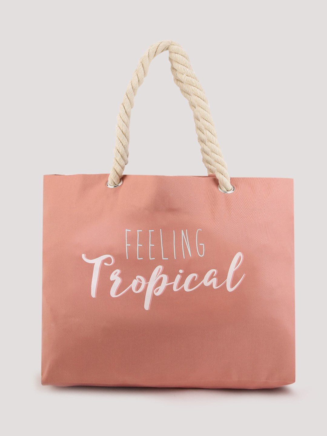 Buy SOUTH BEACH Slogan Print Tote For Women - Women's Pink Tote ...