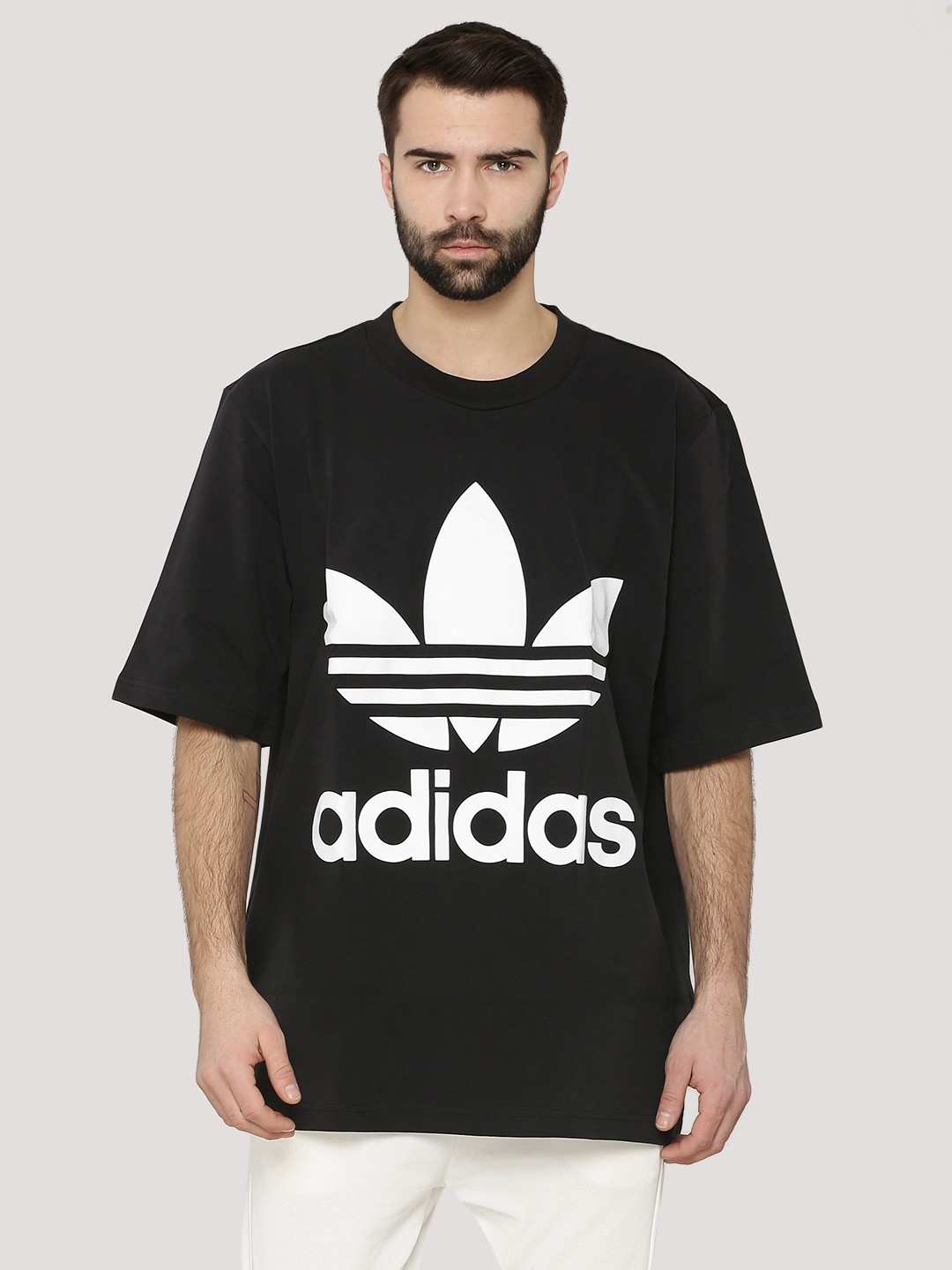 Black t shirt buy online - Adidas Originals Trefoil Boxy T Shirt
