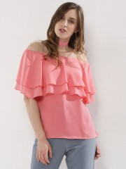 NOBLE FAITH  Layered Top With Choker