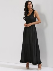 KOOVS  Maxi Dress With Lace Insert Detailing - 89867_2_2