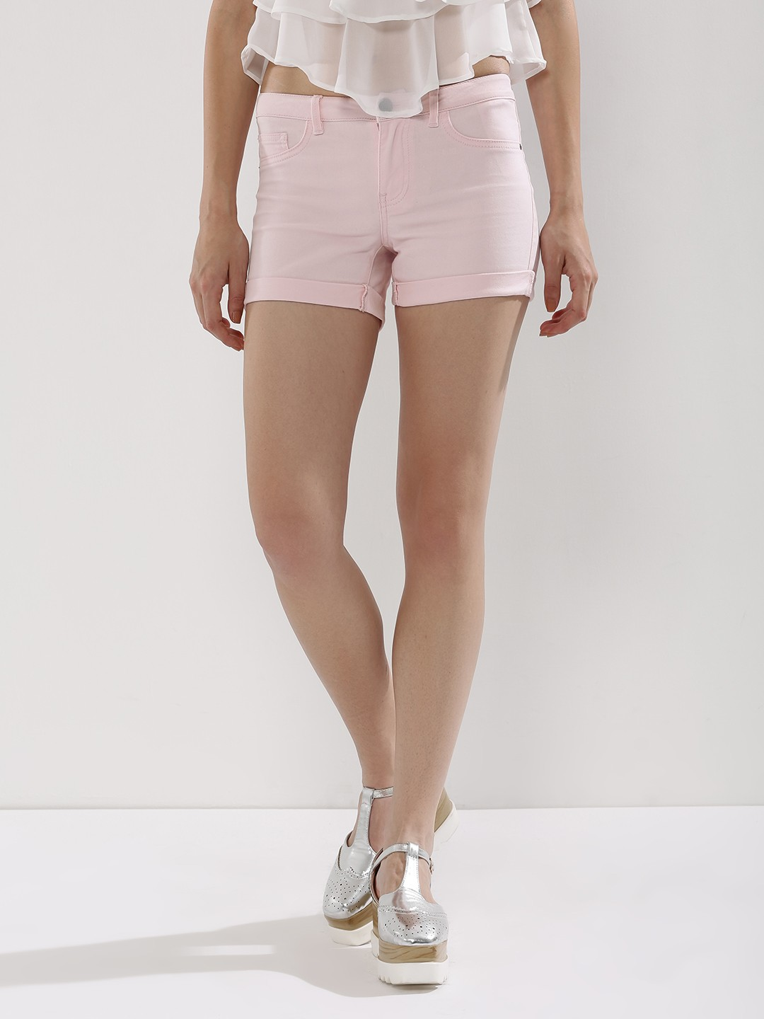 Buy J.D.Y Denim Shorts For Women - Women's Pale Lilac Day Shorts ...