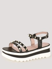 MY FOOT COUTURE  Studded Chunky Soled Sandals - 90089_2_2