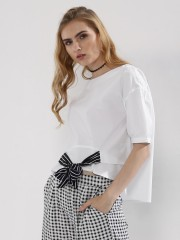 ORIGAMI LILY  Front Tie Knot Top