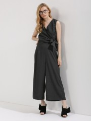 ORIGAMI LILY  Jumpsuit With Overlap Side Knot Detailing