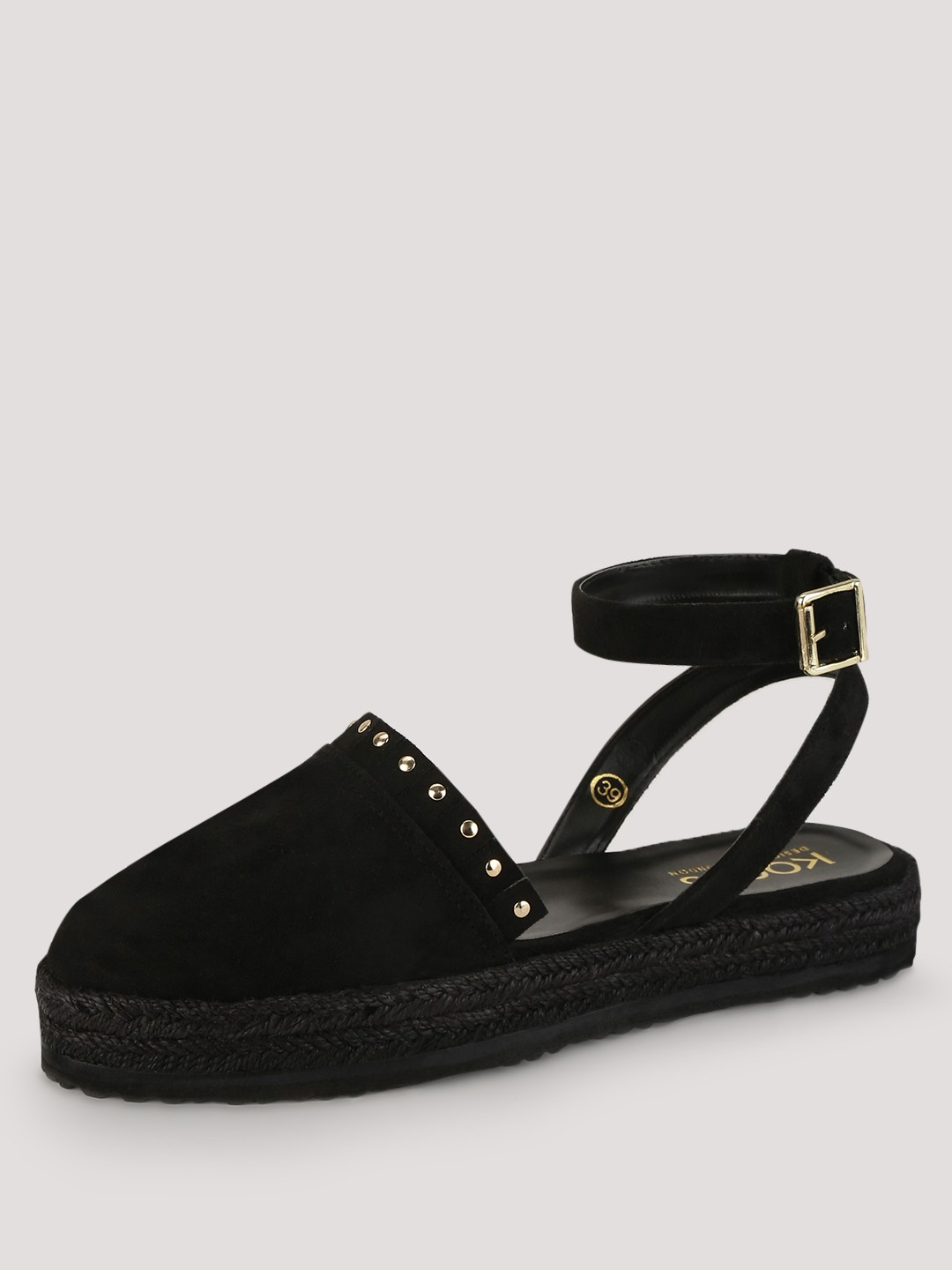 Buy Koovs Stud Detail Espadrille Sandals For Women Women