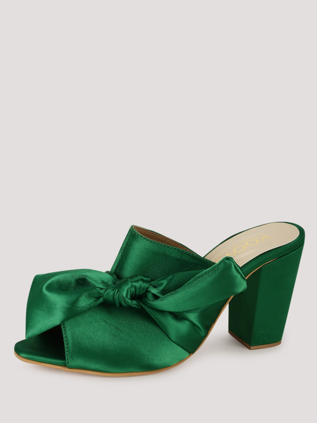 Buy Koovs Knotted Bow Mules For Women Women S Green