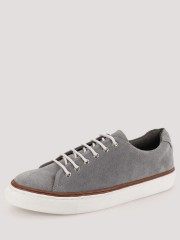KOOVS  Leather Lace Up Low Top Trainers