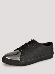 MARCELLO & FERRI  Sneakers With Metallic Detailing And Perforations On Side Panels