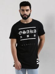 NEW LOOK  Osaka Print Longline T-Shirt With Back Text