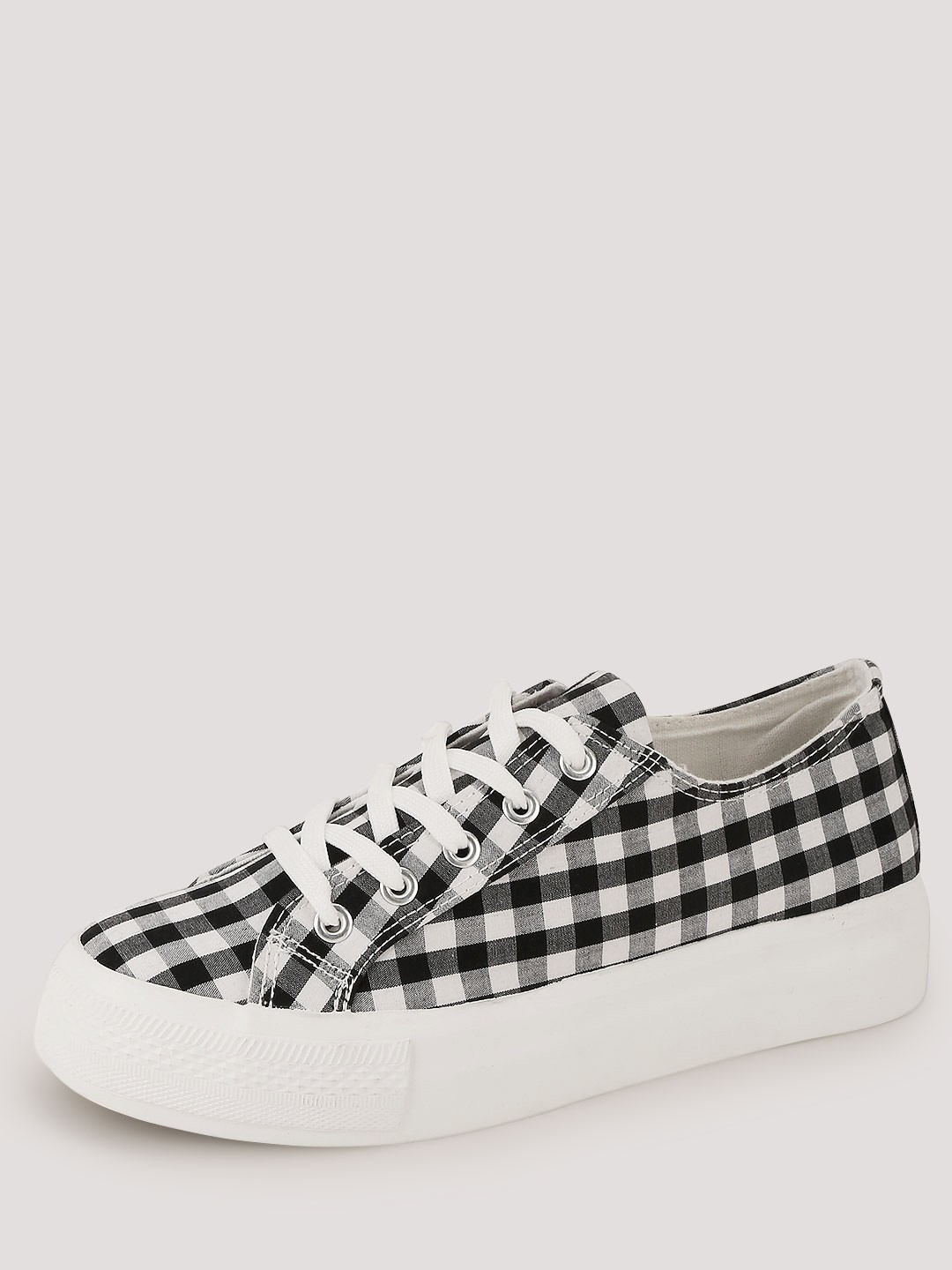 Buy New Look Gingham Flatform Lace Shoes For Women Women
