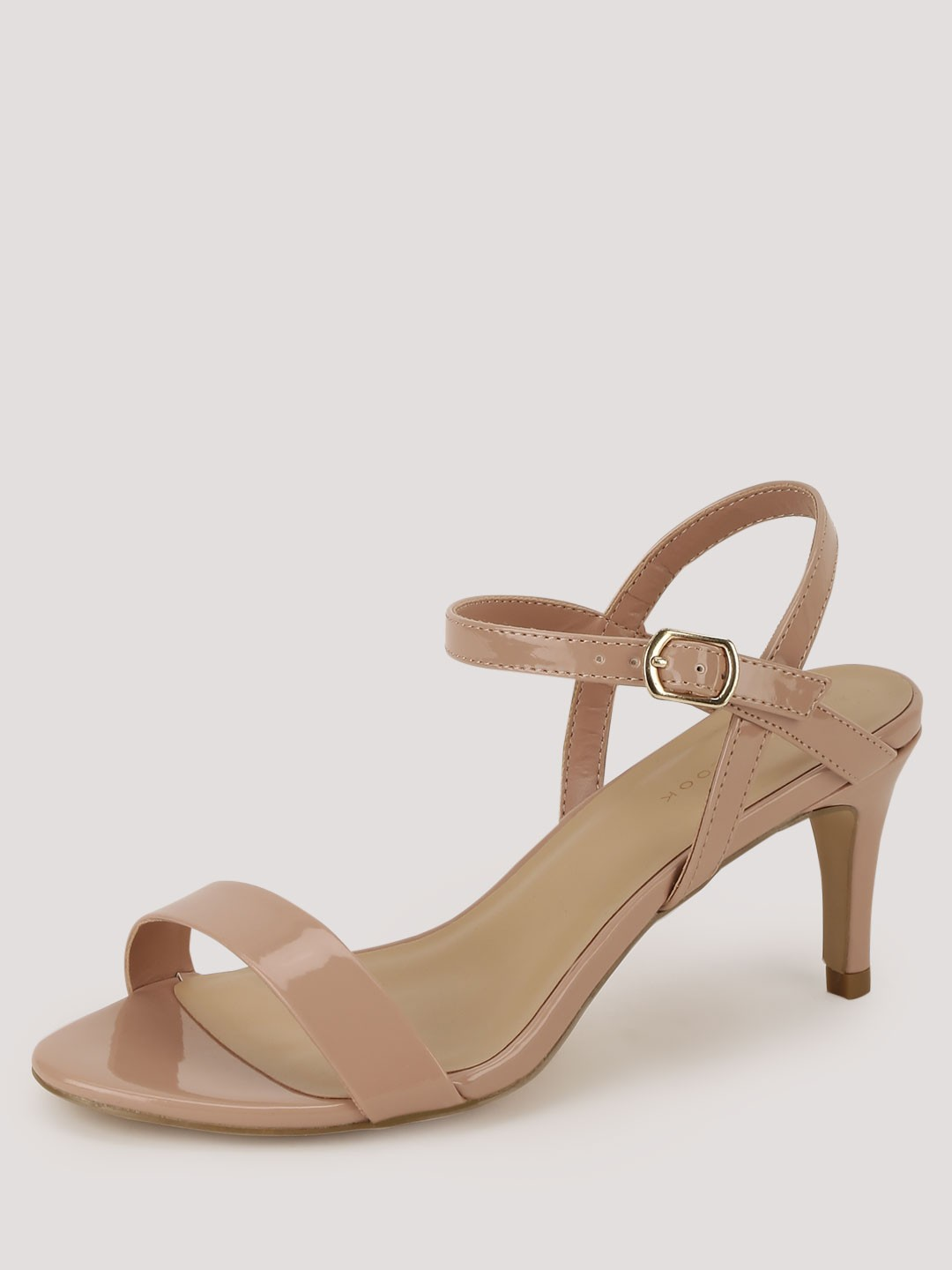 Buy NEW LOOK Ankle Strap Mid Rise Heels For Women - Women's Brown ...