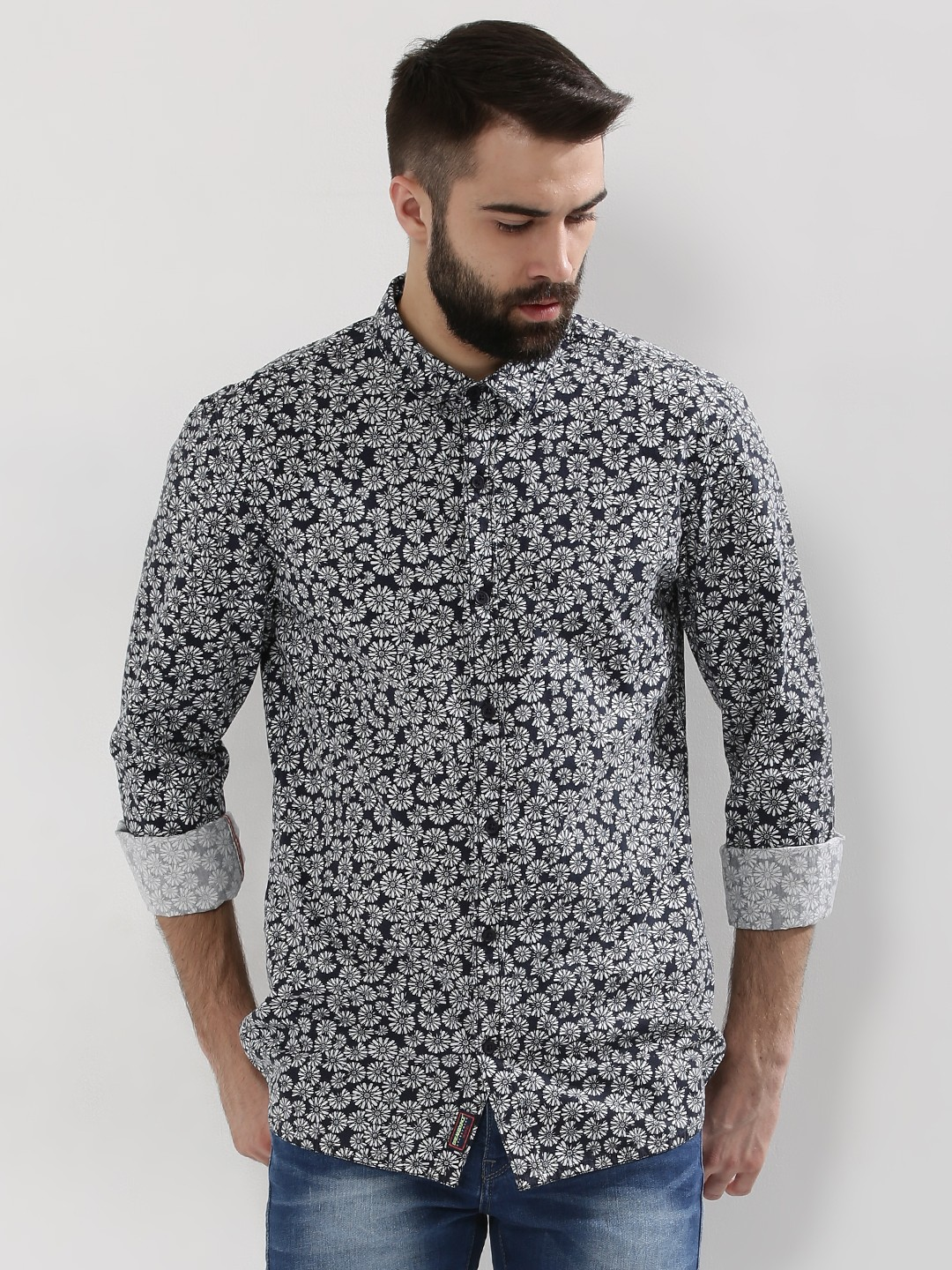 Buy Breakbounce Curved Hem Printed Shirt For Men Men 39 S