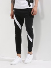SPRING BREAK  Knitted Joggers With Contrast Panel