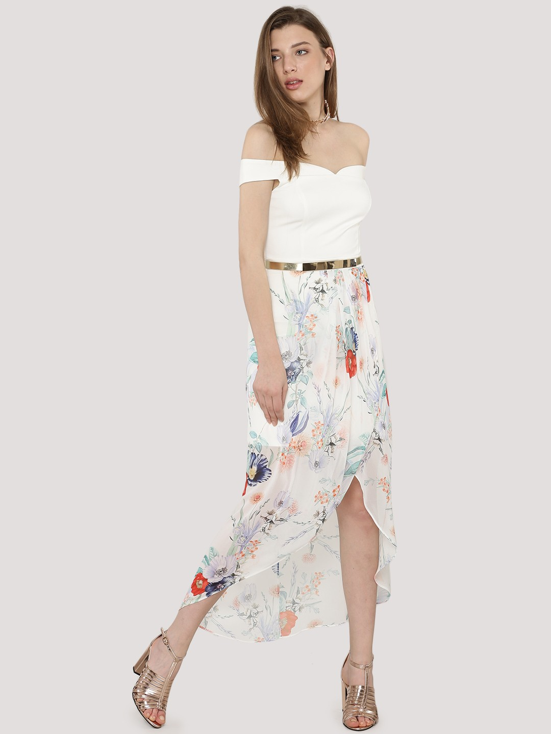 Get This Dress And Accessories At Its Fashion Metro In: Buy FOREVER NEW 2 In 1 Bandeau Hi-Low Dress For Women