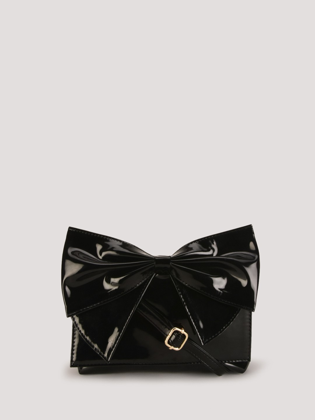 Buy PARIS BELLE Patent Bow Sling Bag For Women - Women's Black ...