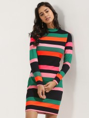 VEROMODA Colourful Stripe Short Dress