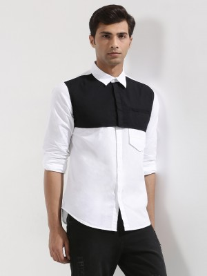 NOBLE FAITH  Slim Fit Shirt With Cut & Sew